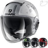 Shark Nano Tribute RM Open Face Motorcycle Helmet & Visor