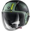 Shark Nano Tribute RM Open Face Motorcycle Helmet & Visor Thumbnail 7