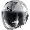 Shark Nano Tribute RM Open Face Motorcycle Helmet & Visor Thumbnail 4