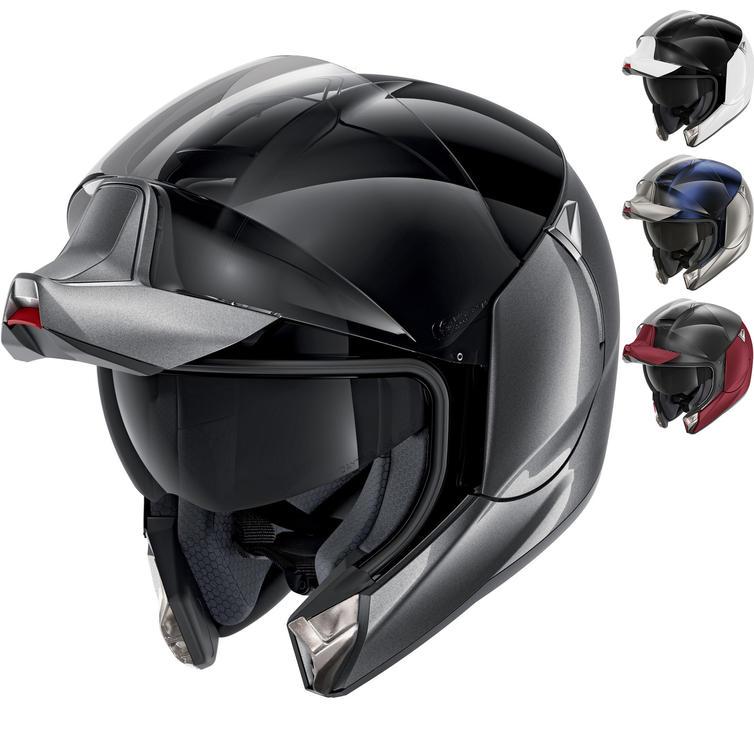 Shark EvoJet Dual Blank Flip Front Motorcycle Helmet
