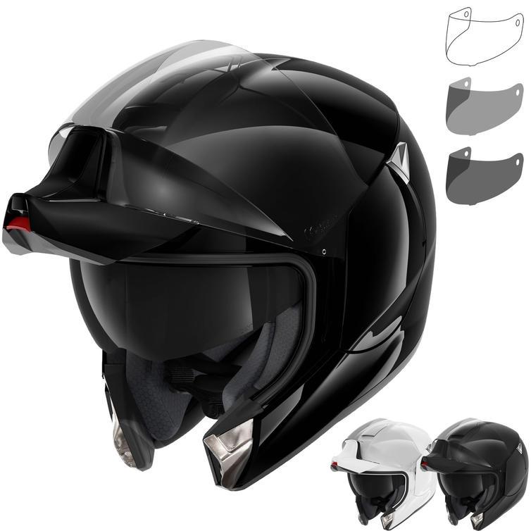 Shark EvoJet Blank Flip Front Motorcycle Helmet & Visor