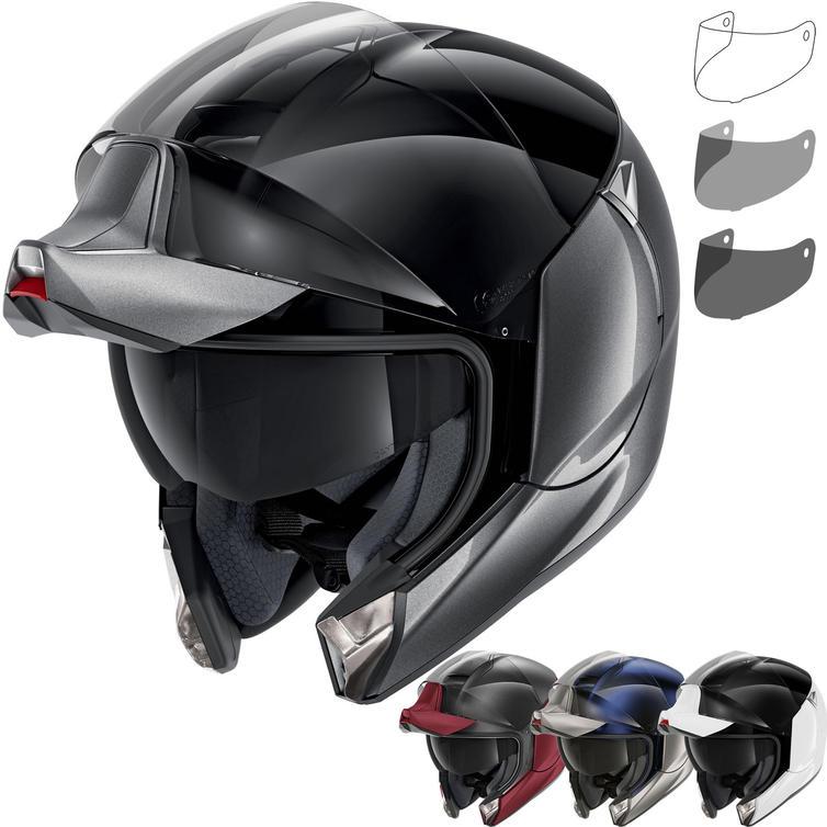 Shark EvoJet Dual Blank Flip Front Motorcycle Helmet & Visor