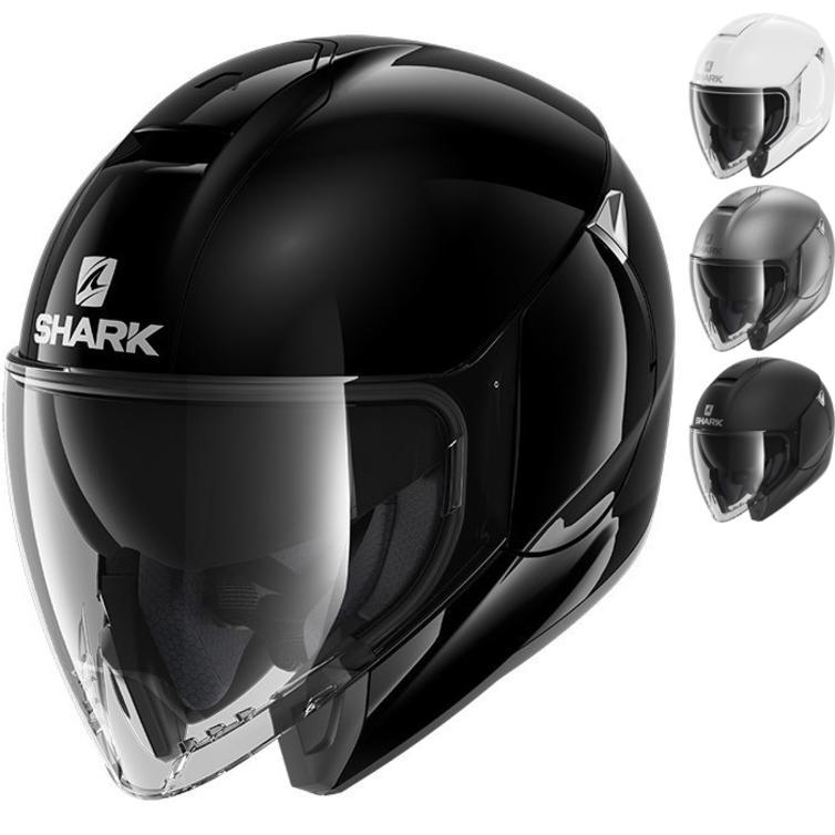 Shark City Cruiser Blank Open Face Motorcycle Helmet