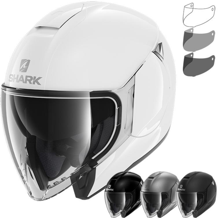 Shark City Cruiser Blank Open Face Motorcycle Helmet & Visor