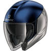 Shark City Cruiser Dual Blank Open Face Motorcycle Helmet & Visor Thumbnail 4