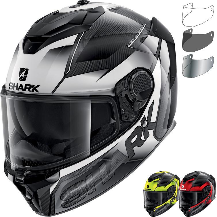 Shark Spartan GT Carbon Shestter Motorcycle Helmet & Visor