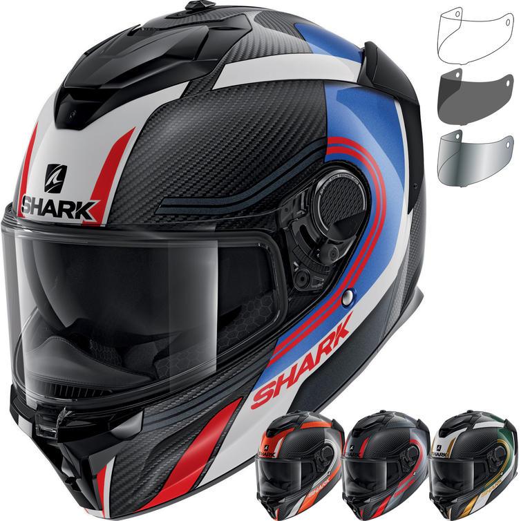 Shark Spartan GT Carbon Tracker Motorcycle Helmet & Visor