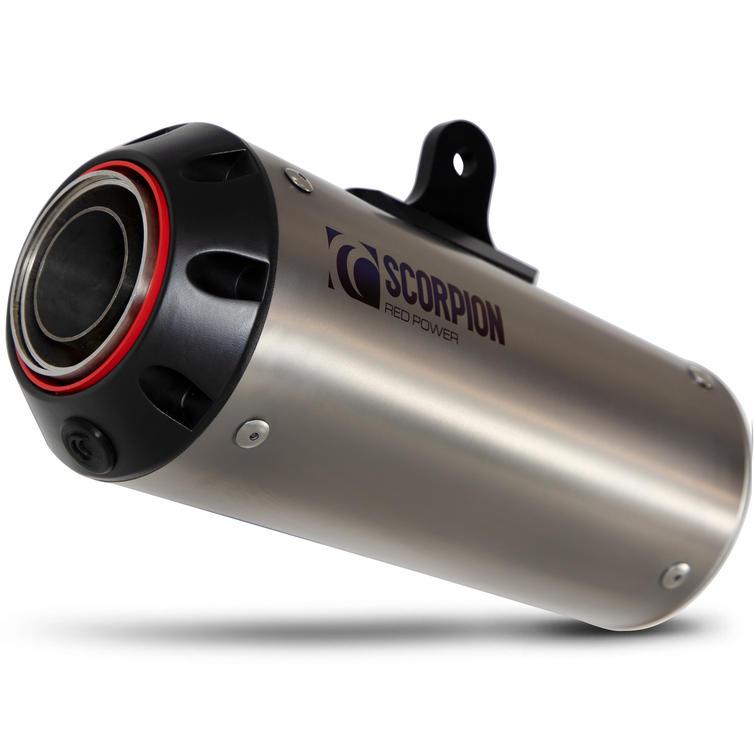 Scorpion Red Power Satin Titanium Exhaust - Suzuki GSX-S 1000 Katana 2019