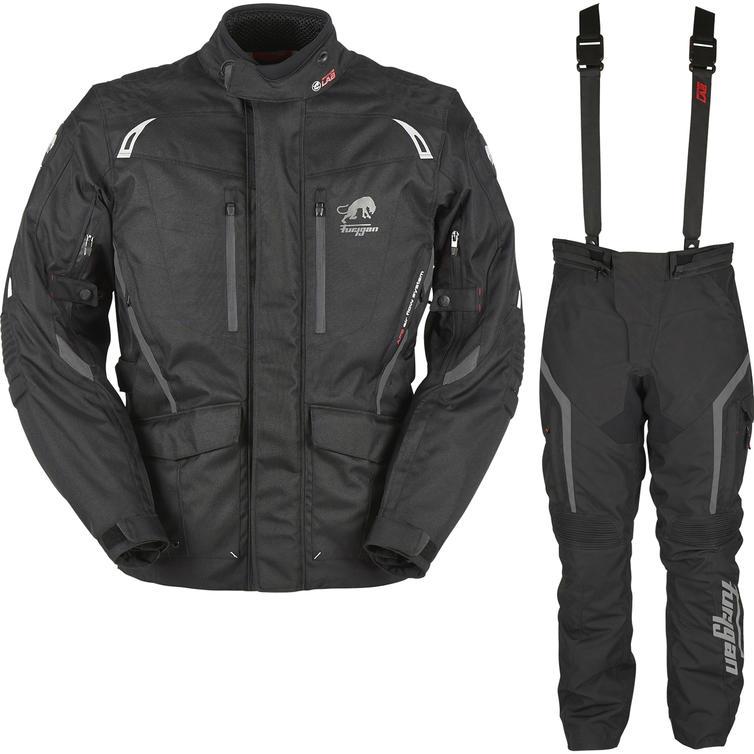 Furygan Apalaches Motorcycle Jacket & Pants Black Kit