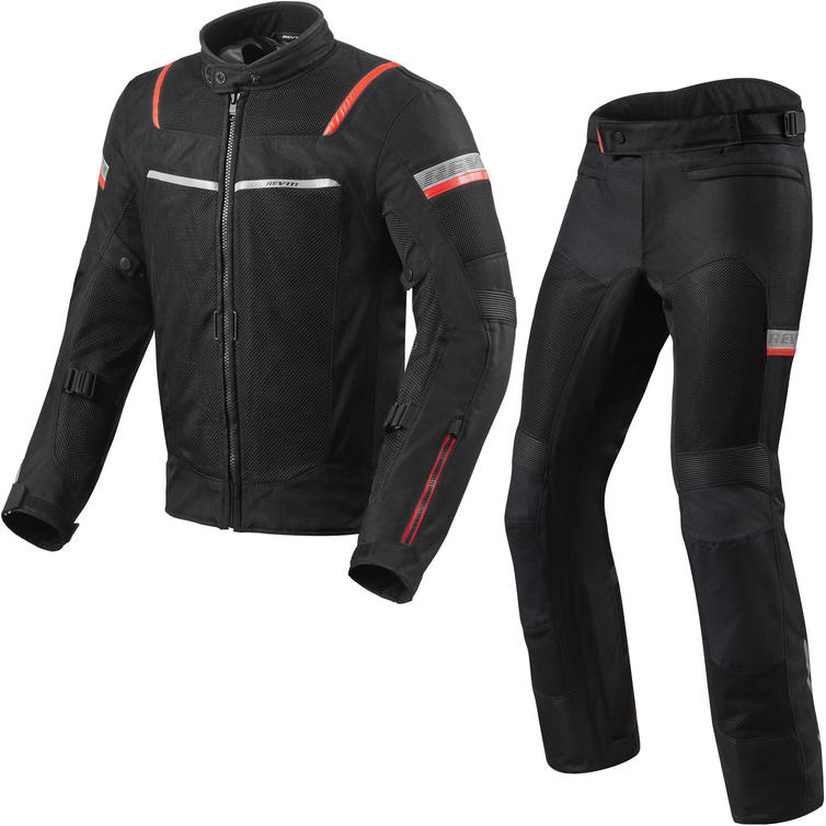 Rev It Tornado 3 Motorcycle Jacket & Trousers Black Kit