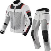 Rev It Tornado 3 Motorcycle Jacket & Trousers Silver Black Kit