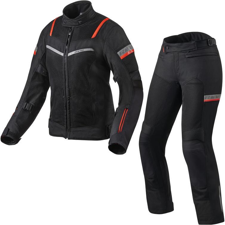Rev It Tornado 3 Ladies Motorcycle Jacket & Trousers Black Kit