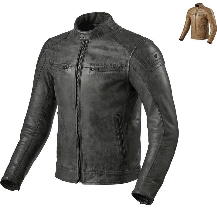 Rev It Huntington Leather Motorcycle Jacket