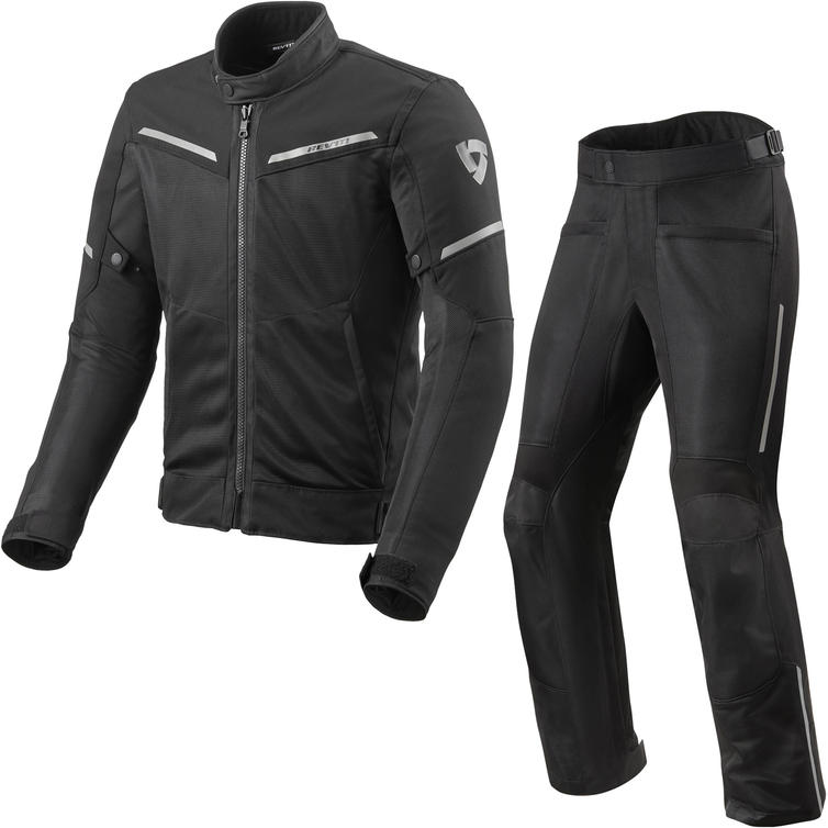 Rev It Airwave 3 Motorcycle Jacket & Trousers Black Kit