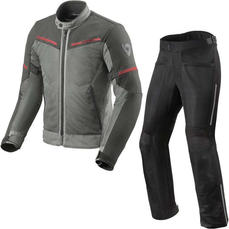 Rev It Airwave 3 Motorcycle Jacket & Trousers Grey Anthracite Kit