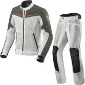 Rev It Airwave 3 Motorcycle Jacket & Trousers Silver Anthracite Kit