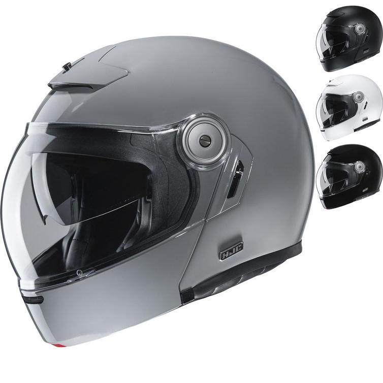 HJC V90 Plain Flip Front Motorcycle Helmet