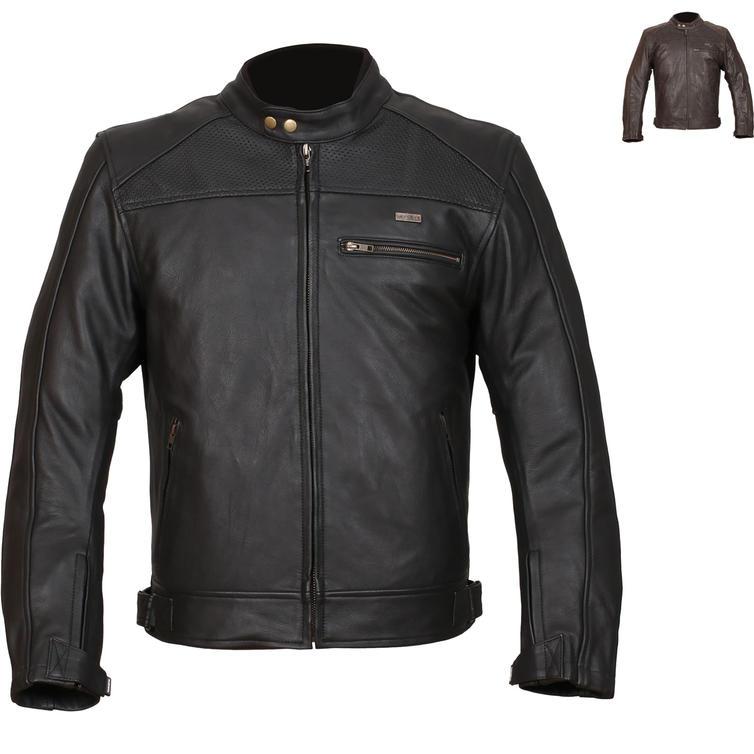 Duchinni Strike Leather Motorcycle Jacket