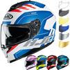 HJC C70 Koro Motorcycle Helmet & Visor Thumbnail 1