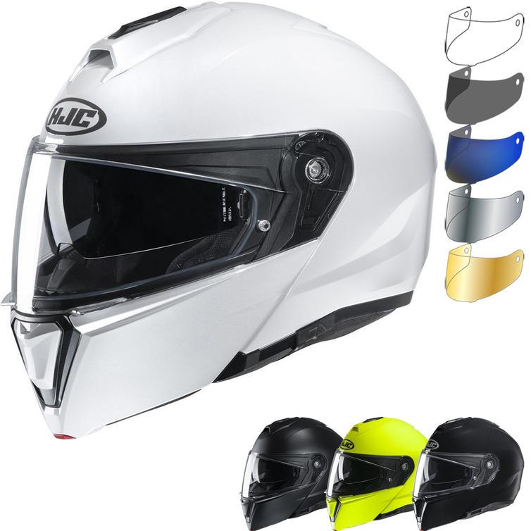 HJC I90 Plain Flip Front Motorcycle Helmet & Visor
