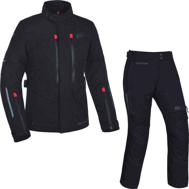 Oxford Mondial Ladies Advanced Motorcycle Jacket & Trousers Tech Black Kit