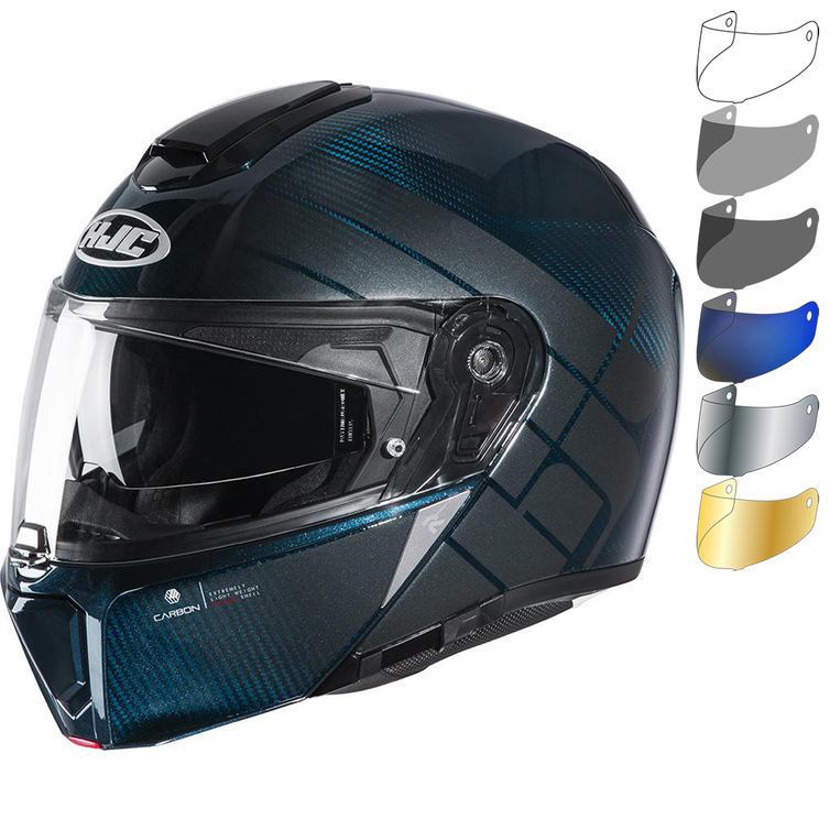 HJC RPHA 90S Balian Carbon Flip Front Motorcycle Helmet & Visor