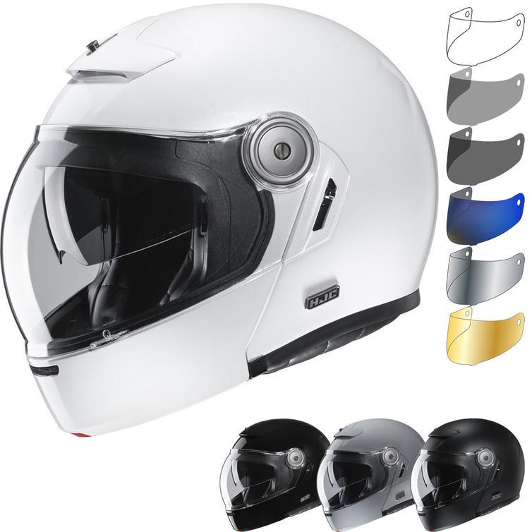 HJC V90 Plain Flip Front Motorcycle Helmet & Visor