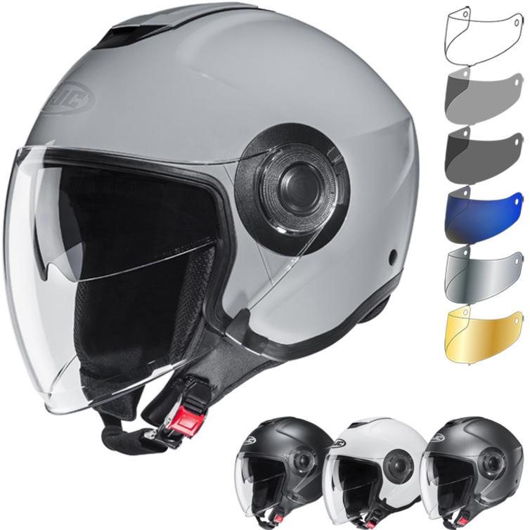 HJC I40 Plain Open Face Motorcycle Helmet & Visor