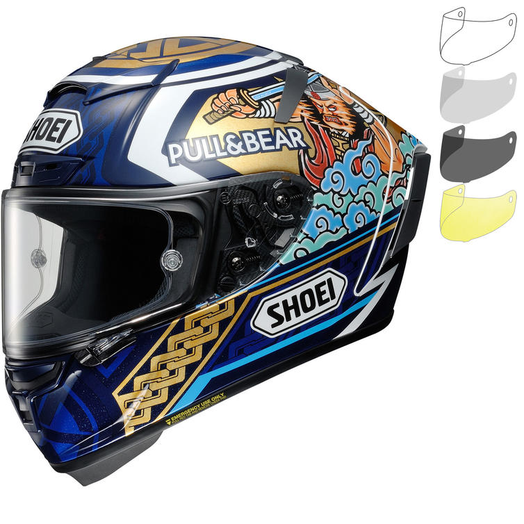 Shoei X-Spirit 3 Marquez Motegi 3 Replica Motorcycle Helmet & Visor