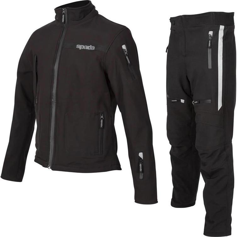 Spada Commute CE Motorcycle Jacket & Trousers Black Kit
