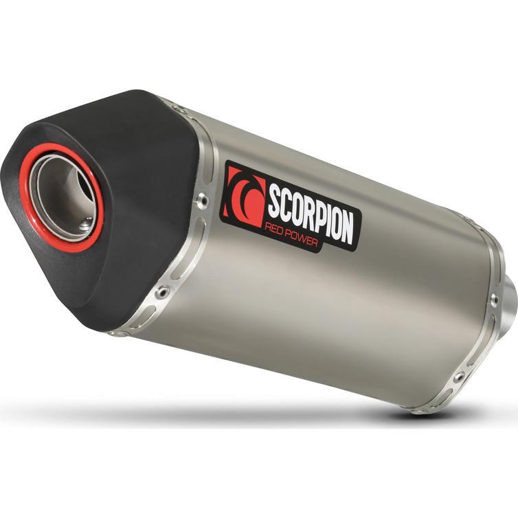 Scorpion Serket Satin Titanium Oval Exhaust - Yamaha Tenere 700 2018 - 2019
