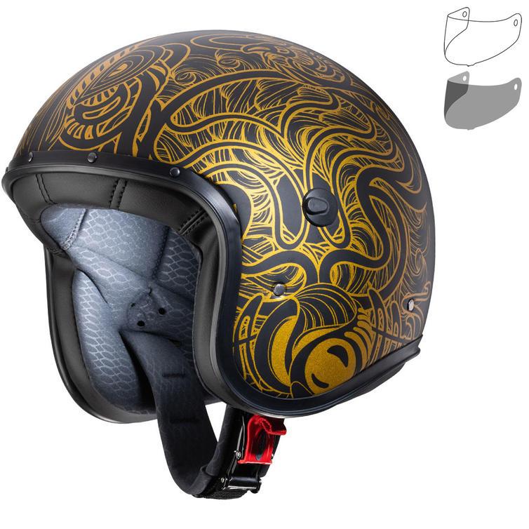 Caberg Freeride Maori Open Face Motorcycle Helmet & Visor