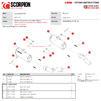 Scorpion Red Power Black Ceramic Slip-On Exhaust (Pair) - Kawasaki Z1000 2017 - 2019 Thumbnail 9
