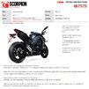 Scorpion Red Power Black Ceramic Slip-On Exhaust (Pair) - Kawasaki Z1000 2017 - 2019 Thumbnail 10