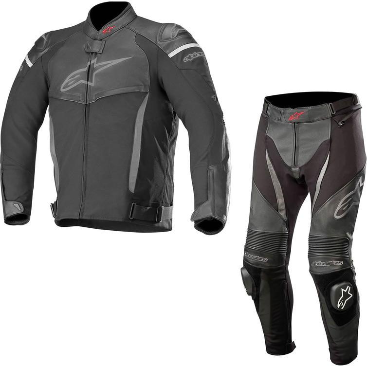 Alpinestars SP X Leather Motorcycle Jacket & Pants Kit Black
