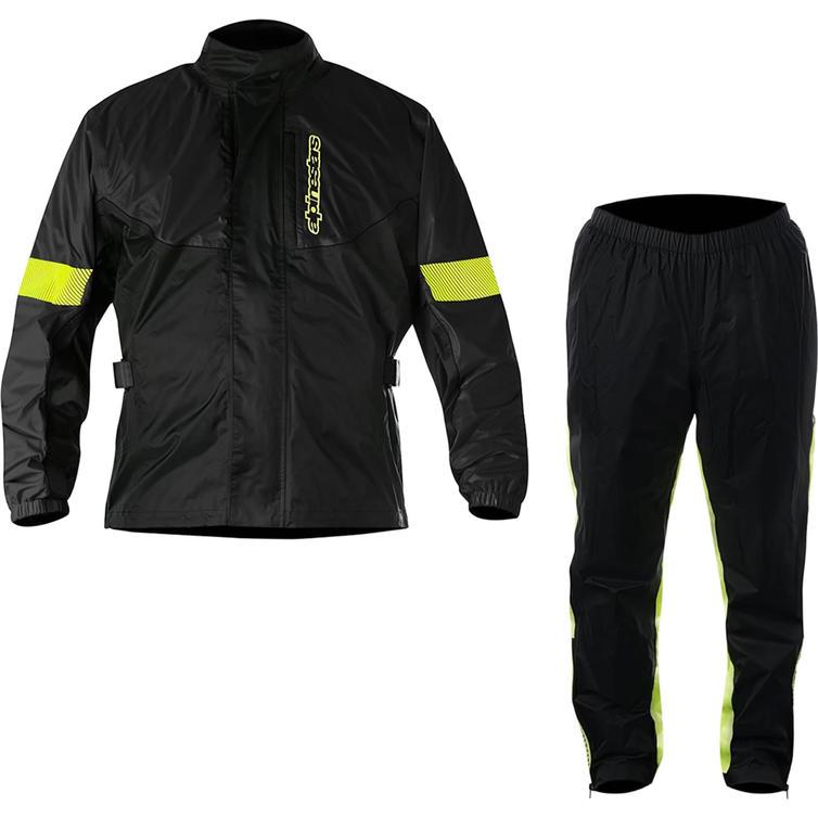 Alpinestars Hurricane Motorcycle Rain Over Jacket & Pants Kit Black