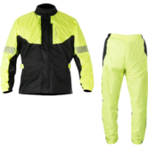 Alpinestars Hurricane Motorcycle Rain Over Jacket & Pants Kit Yellow Fluo Black