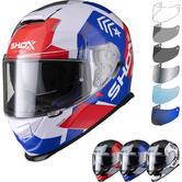 Shox Assault Evo Recoil Motorcycle Helmet & Visor