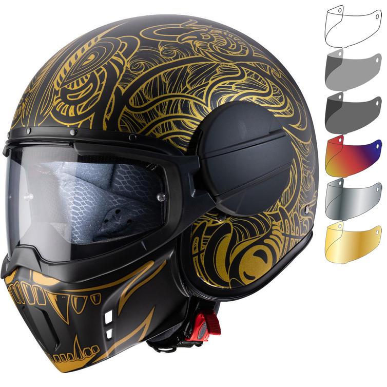 Caberg Ghost Maori Open Face Motorcycle Helmet & Visor