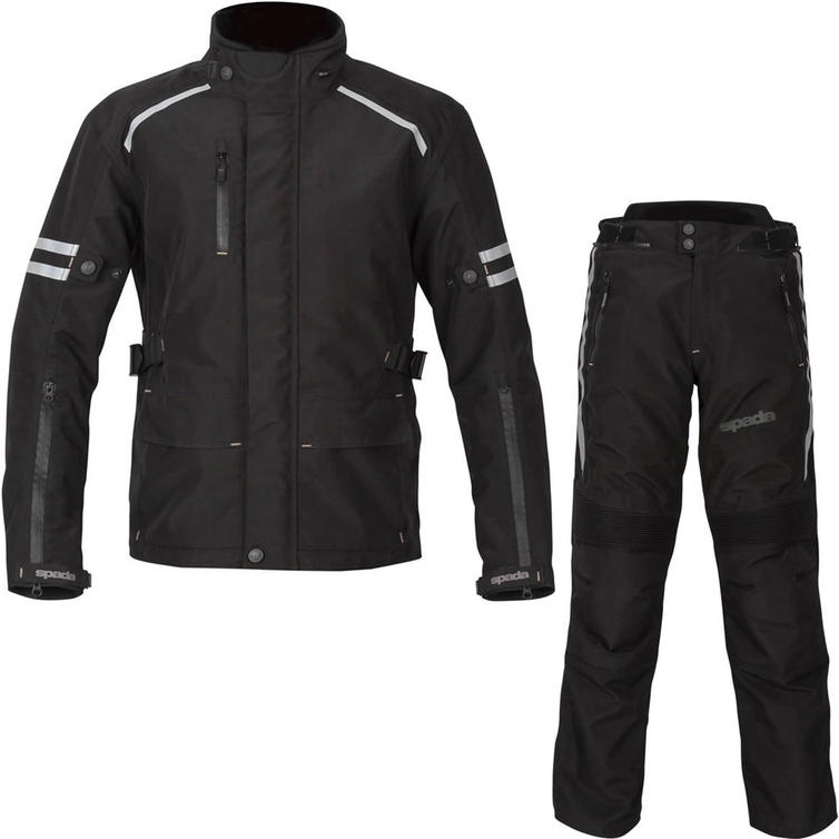 Spada Camber CE Motorcycle Jacket & Trousers Black Kit