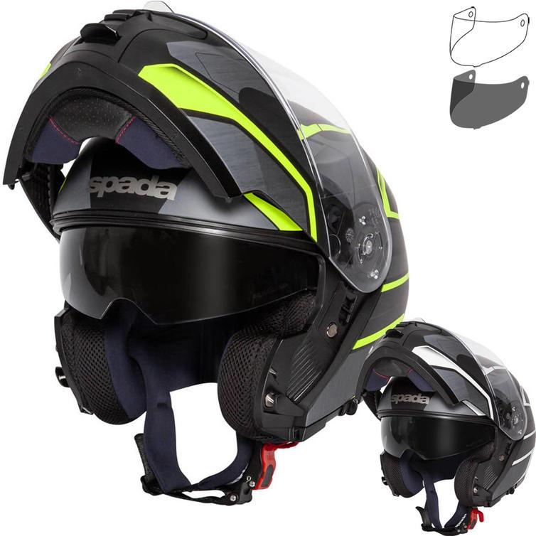 Spada Orion Slate Flip Front Motorcycle Helmet & Visor