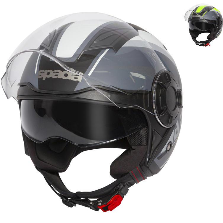 Spada Lycan Strobe Open Face Motorcycle Helmet