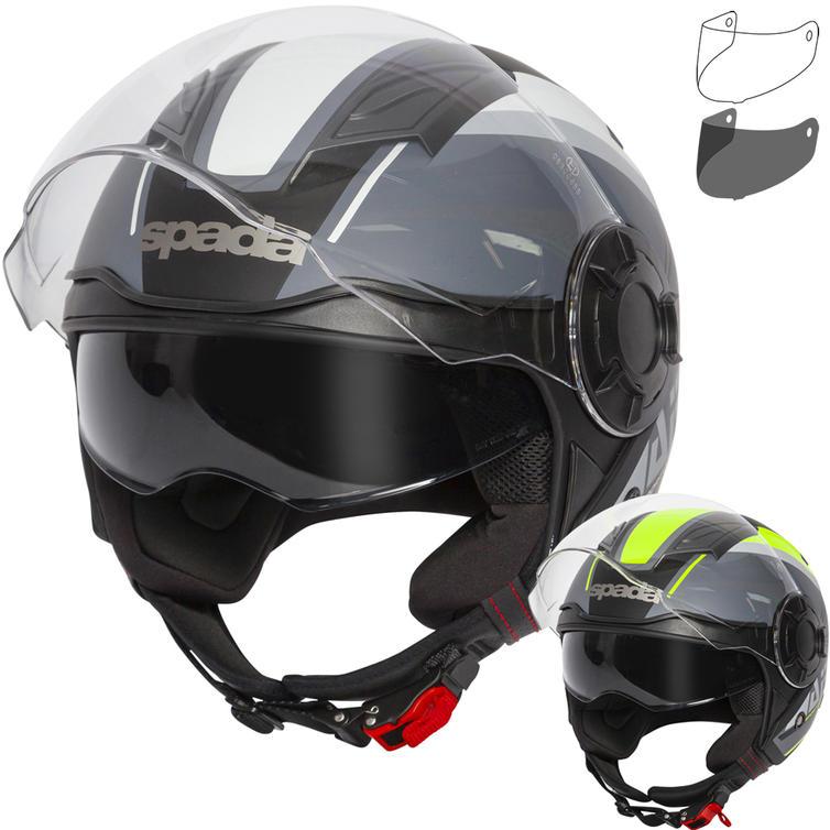 Spada Lycan Strobe Open Face Motorcycle Helmet & Visor