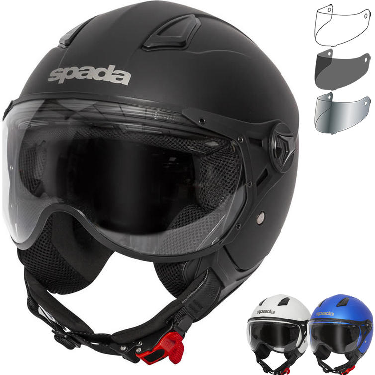 Spada Hellion Open Face Motorcycle Helmet & Visor