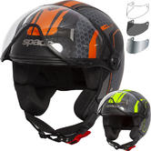 Spada Hellion Arrow Open Face Motorcycle Helmet & Visor
