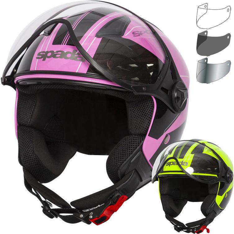 Spada Hellion Twist Open Face Motorcycle Helmet & Visor