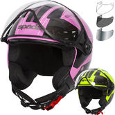 Spada Hellion Twist Open Face Motorcycle Helmet & Visor