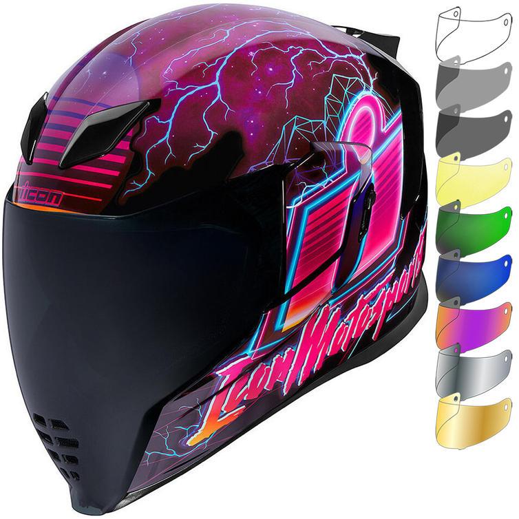 Icon Airflite Synthwave Motorcycle Helmet & Visor
