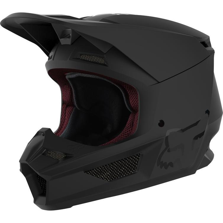Fox Racing 2021 Youth V1 Matte Black Motocross Helmet