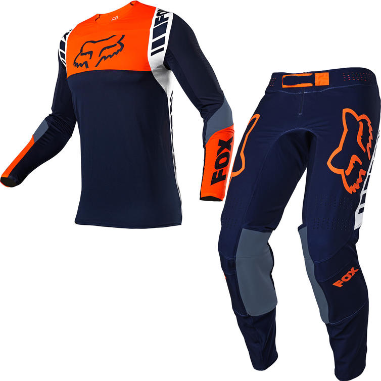 Fox Racing 2021 Flexair Mach One Motocross Jersey & Pants Navy Kit